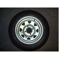 "Trailex, Spare 4.80 X 12"" CLR Tire On 4-Hole Galvanized Wheel"