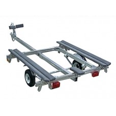 Trailex Aluminum Trailer, Single Inflatable Carrier