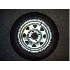 "Trailex, Spare 4.80 X 12"" CLR Tire On 4-Hole Galvanized Wheel"