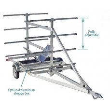 "Trailex Aluminum Trailer, Eight Canoe Carrier 4.80 X 12"" Clr W/Aluminum Fenders Standard"